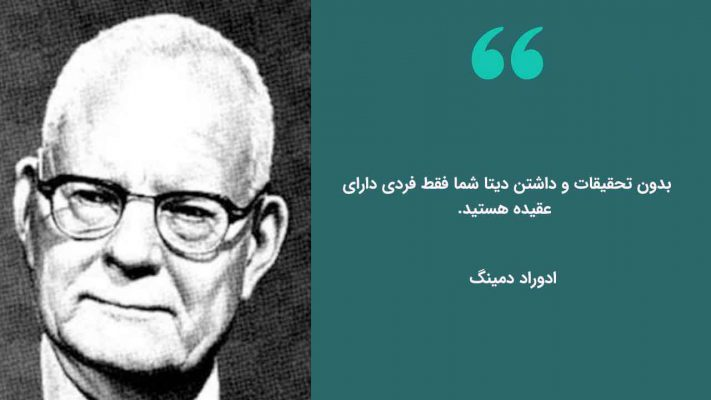 نقل قول ادوارد دمینگ درباره اهمیت تحقیقات بازار